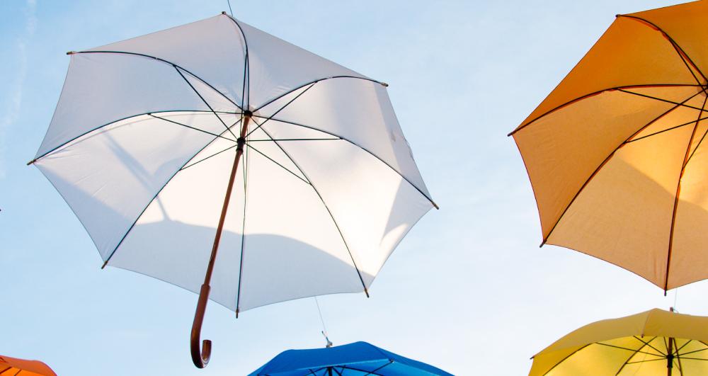 white-umbrella-in-sky